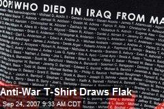 Anti-War T-Shirt Draws Flak