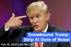 Snowbound Trump: Strip Al Gore of Nobel