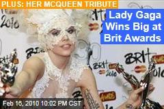 Lady Gaga Wins Big at Brit Awards