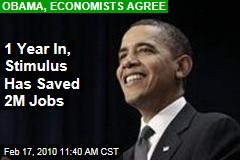 1 Year In, Stimulus Has Saved 2M Jobs