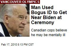 Man Used Bogus ID to Get Near Biden at Ceremony