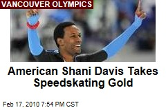 American Shani Davis Takes Speedskating Gold