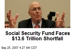 Social Security Fund Faces $13.6 Trillion Shortfall