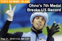 Ohno's 7th Medal Breaks US Record