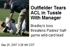 Outfielder Tears ACL in Tussle With Manager