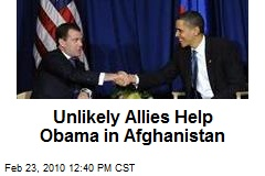 Unlikely Allies Help Obama in Afghanistan