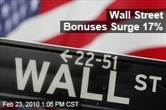 Wall Street Bonuses Surge 17%