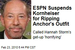 ESPN Suspends Kornheiser for Ripping Anchor's Outfit