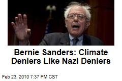 Bernie Sanders: Climate Deniers Like Nazi Deniers