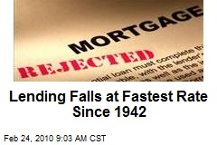 Lending Falls at Fastest Rate Since 1942
