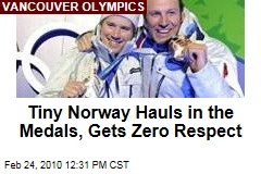 Tiny Norway Hauls in the Medals, Gets Zero Respect
