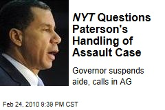 NYT Questions Paterson's Handling of Assault Case