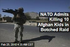 NATO Admits Killing 10 Afghan Kids in Botched Raid