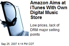 Amazon Aims at iTunes With Own Digital Music Store
