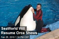 SeaWorld Will Resume Orca Shows