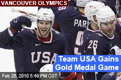 Team USA Gains Gold Medal Game