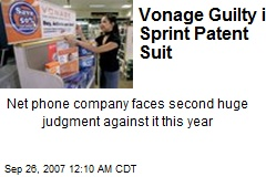 Vonage Guilty in Sprint Patent Suit