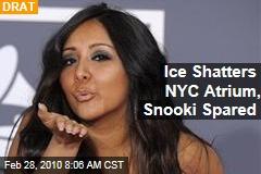 Ice Shatters NYC Atrium, Snooki Spared