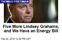 Five More Lindsey Grahams, and We Have an Energy Bill