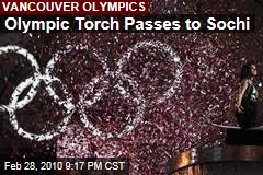 Olympic Torch Passes to Sochi