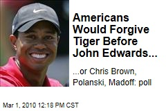 Americans Would Forgive Tiger Before John Edwards...
