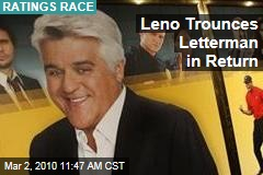 Leno Trounces Letterman in Return