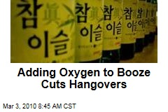 Adding Oxygen to Booze Cuts Hangovers