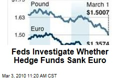Feds Investigate Whether Hedge Funds Sank Euro
