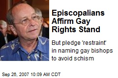 Episcopalians Affirm Gay Rights Stand