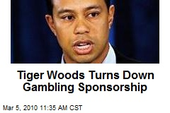Tiger Woods Turns Down Gambling Sponsorship