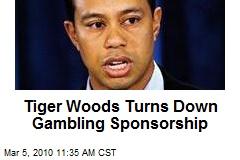 Tiger Woods Turns Down Gambling Sponsorship