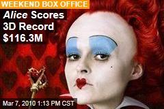 Alice Scores 3D Record $116.3M