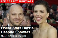 Oscar Stars Dazzle Despite Showers
