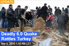 Deadly 6.0 Quake Rattles Turkey