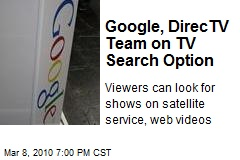 Google, DirecTV Team on TV Search Option