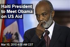 Haiti President to Meet Obama on US Aid