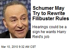 Schumer May Try to Rewrite Filibuster Rules