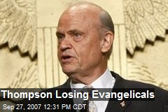 Thompson Losing Evangelicals