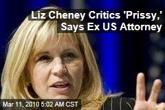 Liz Cheney Critics 'Prissy,' Says Ex US Attorney