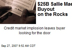 $25B Sallie Mae Buyout on the Rocks