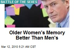Older Women's Memory Better Than Men's
