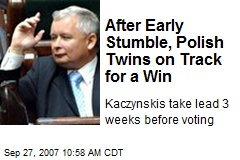 After Early Stumble, Polish Twins on Track for a Win
