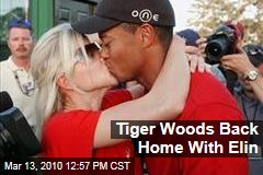 Tiger Woods Back Home With Elin