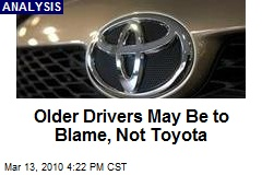 Older Drivers May Be to Blame, Not Toyota