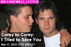 Corey to Corey: I Tried to Save You