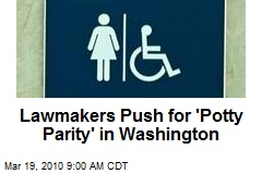 Lawmakers Push for 'Potty Parity' in Washington