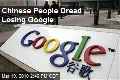 Chinese People Dread Losing Google