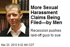 More Sexual Harassment Claims Being Filed—by Men