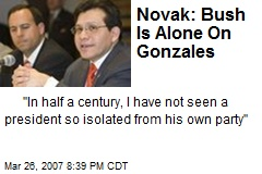 Novak: Bush Is Alone On Gonzales