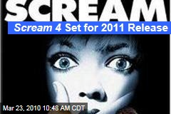 Scream 4 Set for 2011 Release